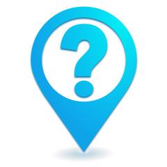 aide sur symbole localisation bleu