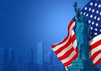 Blue American Background