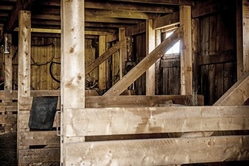 Wooden Barn Interior
