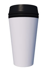 Plastic Coffee Cup Black Cup