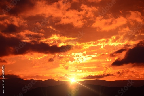 Mountain Sunset Landscape