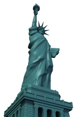 Isolated Statue of Liberty