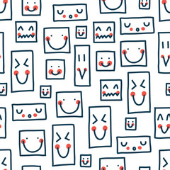 Cute vector seamless pattern.