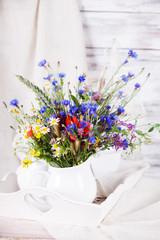 Wildflowers in bottles