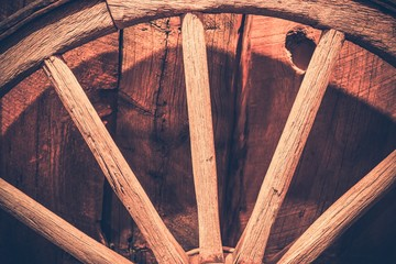 Aged Wooden Wheel