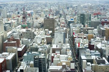 Sapporo, Japan in winter
