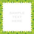 creative green leaf frame design background