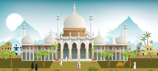 Palace in the arabian city