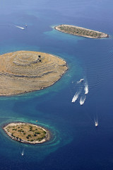 National park Kornati, Adriatic sea in Croatia