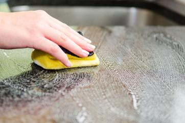 küchenablage putzen