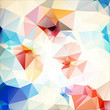multicolor abstract geometric background  with stroke