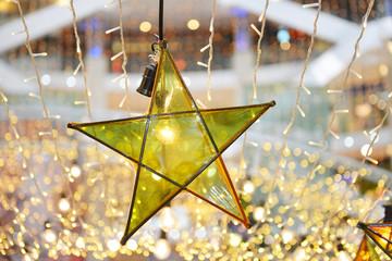 transparent star and lightbulb decoration