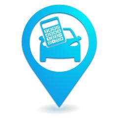 frais de route sur symbole localisation bleu