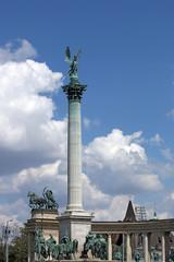 Heroes' square landmark Budapest Hungary