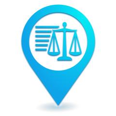 informations légales sur symbole localisation bleu