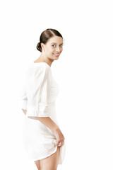 girl on white