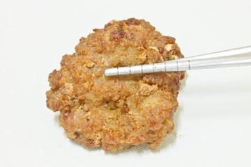 fried pork with garlic pepper