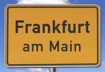 Ortsschild Frankfurt am Main