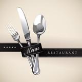 Menu Restaurant Catering Gastroservice Logo Black tie