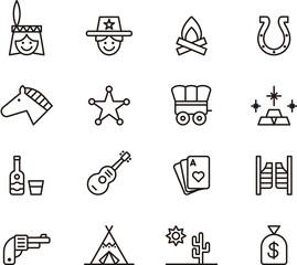 Far West icons