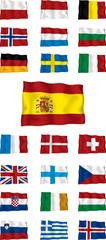 European country flags vector