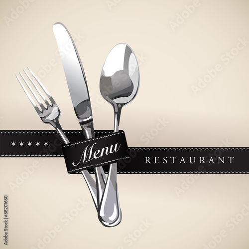 Menu Restaurant Catering Gastroservice Logo Black tie - 68201660