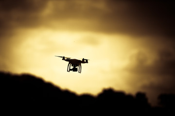 Photo of a quadrocopter