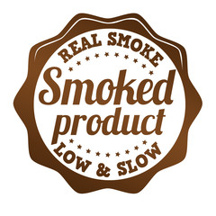 Smoked product sticker, icon,stamp or label
