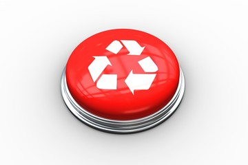 Composite image of recycling symbol on button
