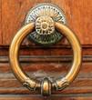 Door handle, vintage and antique decoration, house