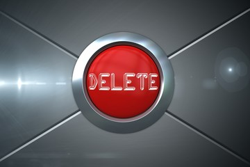 Delete on digitally generated red push button