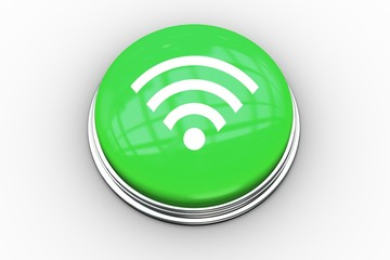 Composite image of wifi symbol graphic on button