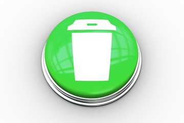 Composite image of coffee cup graphic on button
