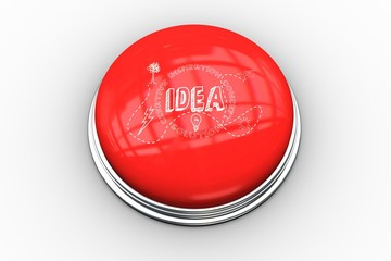 Composite image of light bulb graphic on button