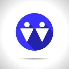 Vector homosexual couple icon. Eps10