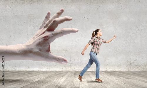 canvas print picture Running woman