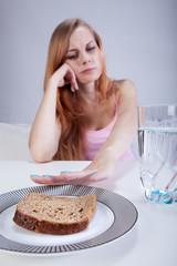 Girl doesn't eat breakfast