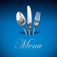 Menu Restaurant Catering  Logo