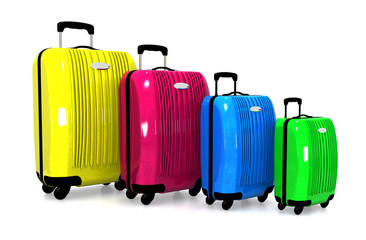 Luggage. Colorful suitcases