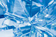 abstract blue background of crystal refractions - 68205479