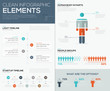 Modern infographic data visualization with people and timelines