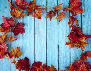 Autumn Leaves Thanksgiving Background