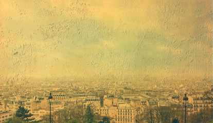 city ​​of Paris. Vintage