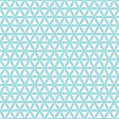 Retro Seamless Pattern Flowers Turquoise