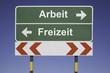 canvas print picture - Arbeit, Freizeit