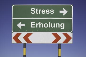 Stress, Erholung