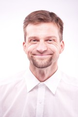Funny man smiling
