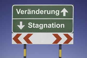 Veränderung, Stagnation