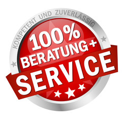 Button - 100% BERATUNG + SERVICE