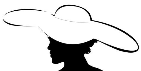 silhouette de jeune femme à la capeline